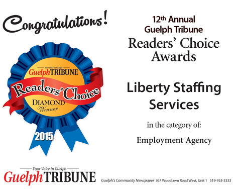Readers Choice Win Certificate